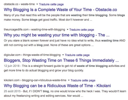 waste time bloggin